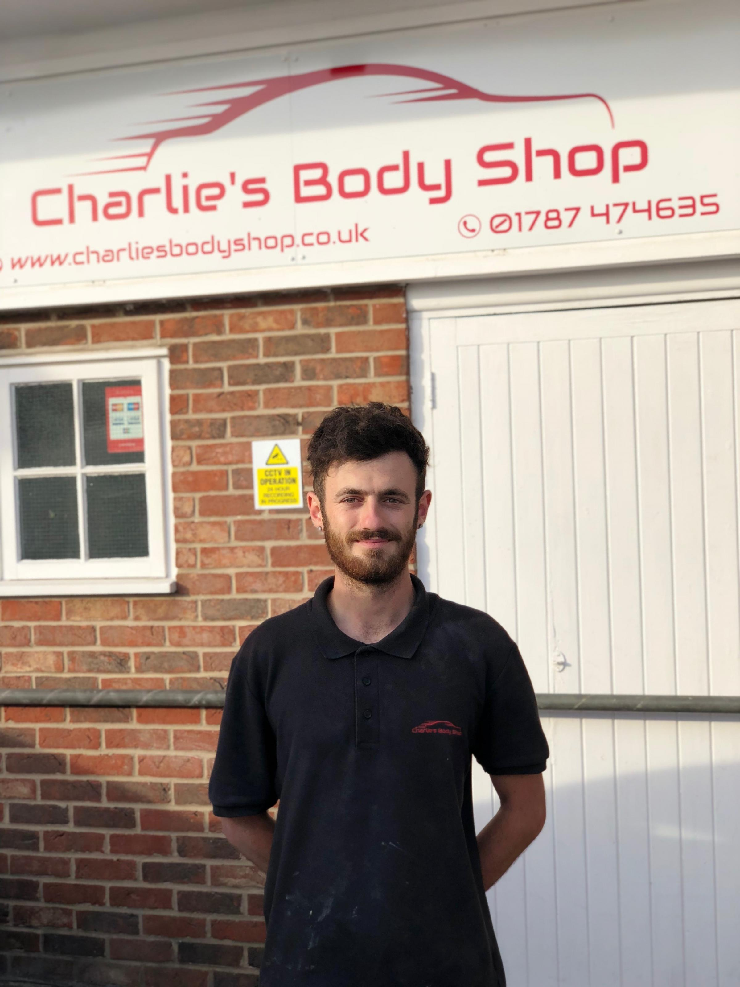 BUSINESS: Charlie Cutter, 23, has opened Charlie's Body Shop in Halstead