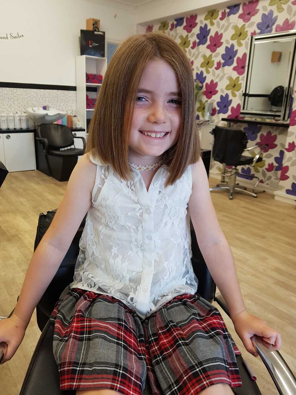 Kind youngster braves the shave for cancer research