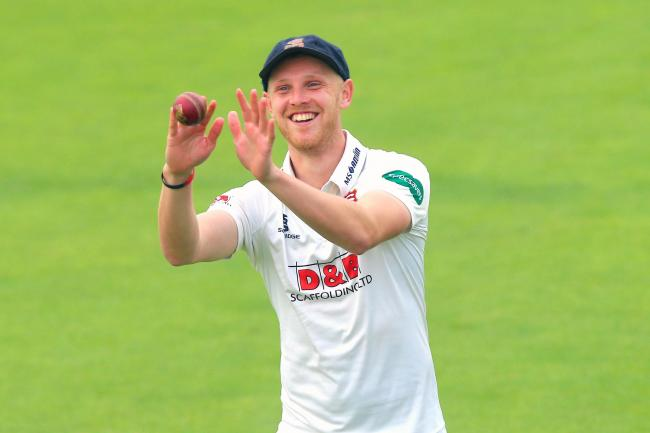 Jamie Porter of Essex smiles as an announcement is made that he has signed a 2 year contract extension during Essex CCC vs Yorkshire CCC, Specsavers County Championship Division 1 Cricket at The Cloudfm County Ground on 27th September 2017.