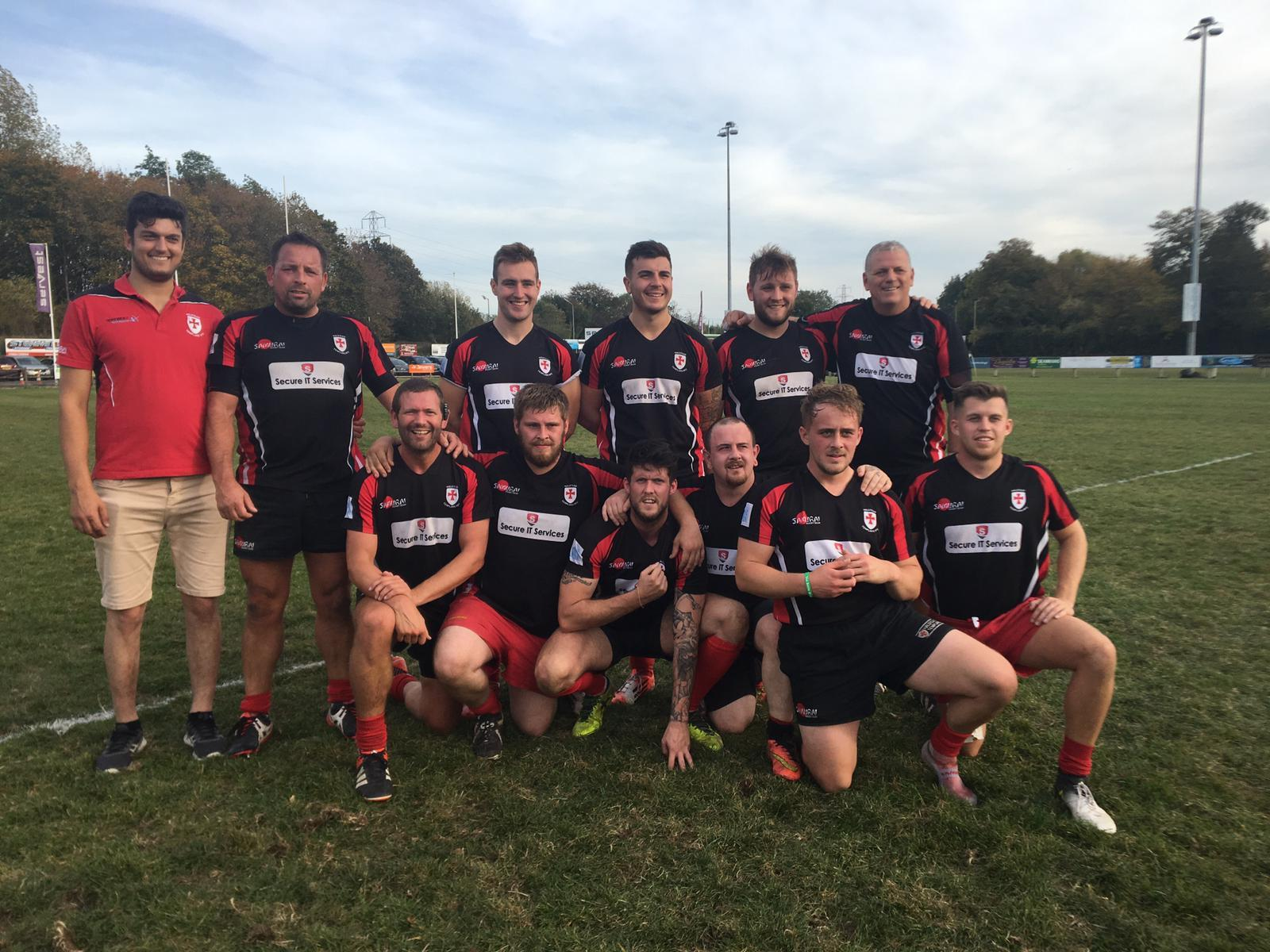 History makers: Halstead Templars' second team of (back row) Ivan Fellowes, Craig Trevain, Tom Amass, Dylan Moss, Louis Pulford, Phil Foster, (front row) Ed Merry, Charlie Cooper, Joe Harrison, Danny Ball, Jack Pawsey and Elliott Wincott.
