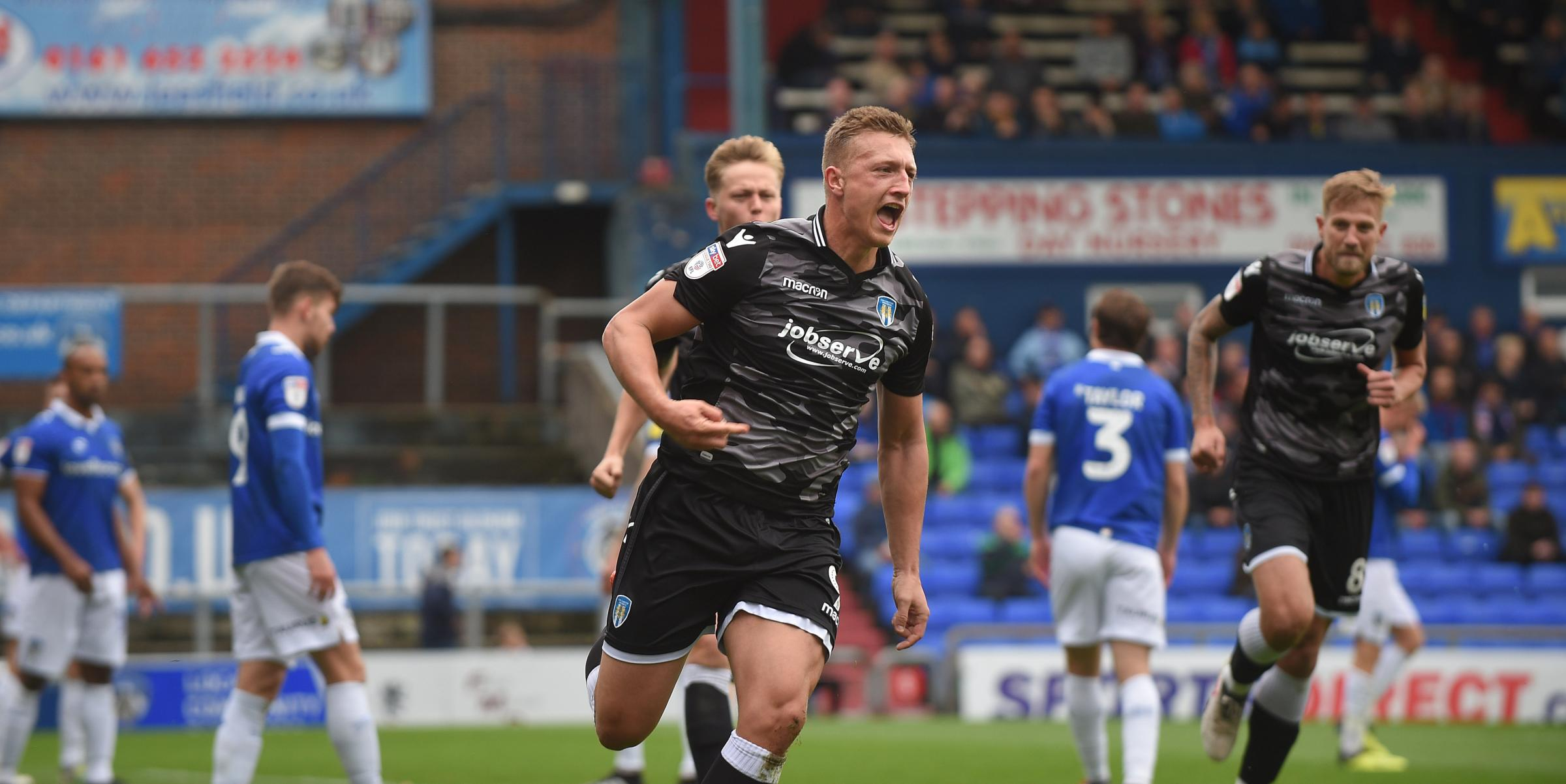 Sidelined - Colchester United striker Luke Norris injured his ankle against Swindon Town  Picture: PAGEPIX