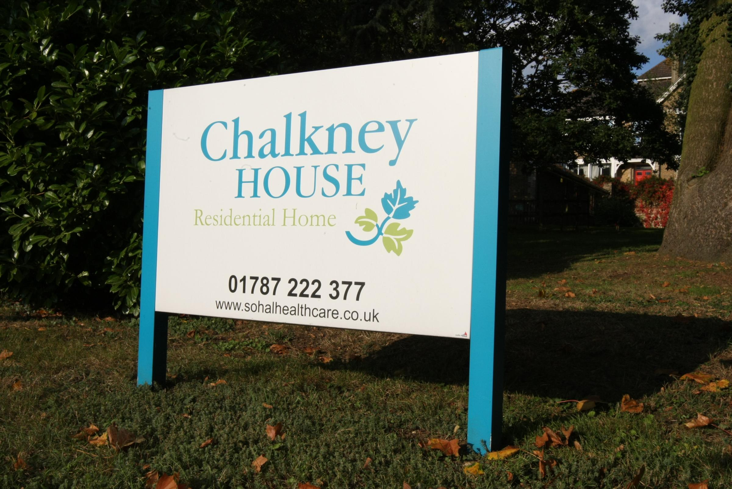 Chalkney House care home in White Colne