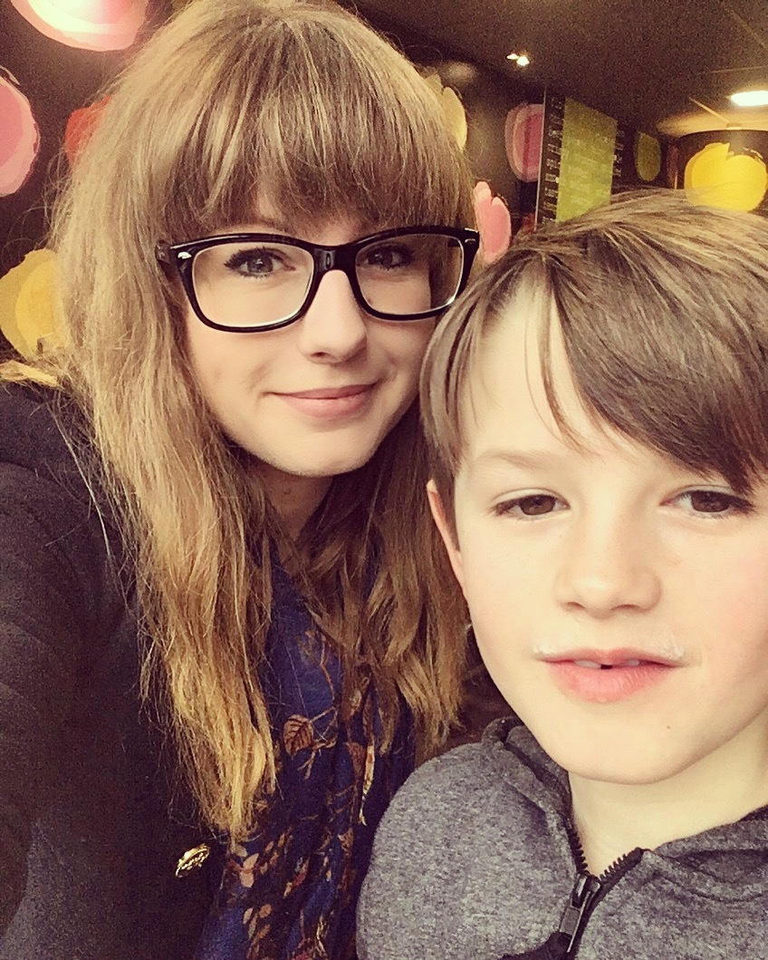 Lauren Smith and son Ben, eight