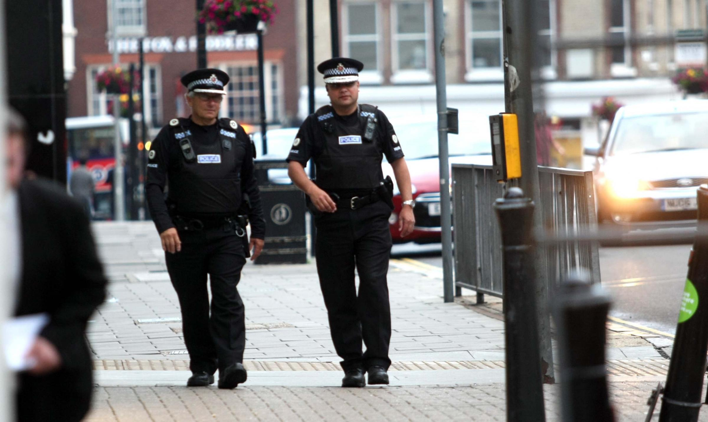Patrol - special constables who give up their time for free on patrol in Colchester town centre