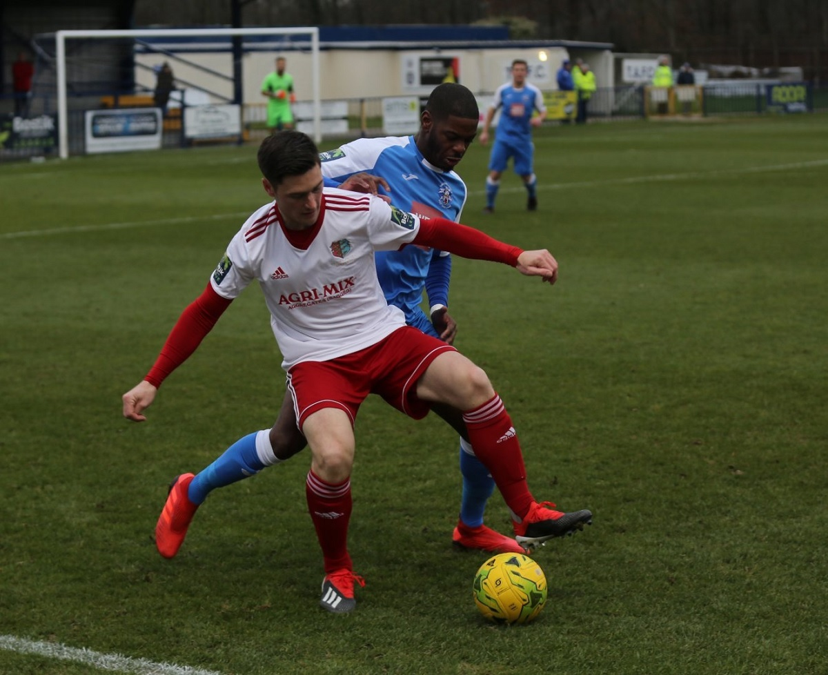 Night to remember - Billy Hunt, pictured in action at Tonbridge Angels on Saturday, scored one and made another in Tuesday's 3-0 victory against Bognor Regis Town Picture: Neil Payne