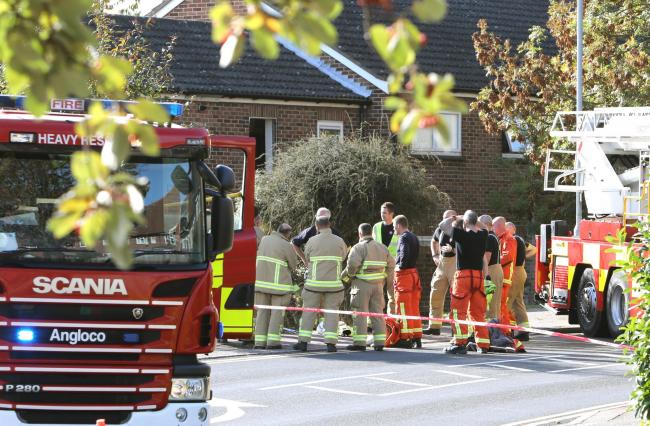 Fire Brigade incident in Forest Road, Colchester..