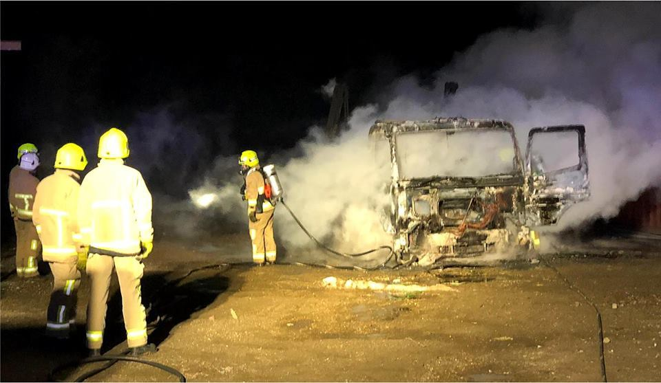 BURNED OUT: The lorry was completely destroyed in the fire Photo: Maldon Fire Station