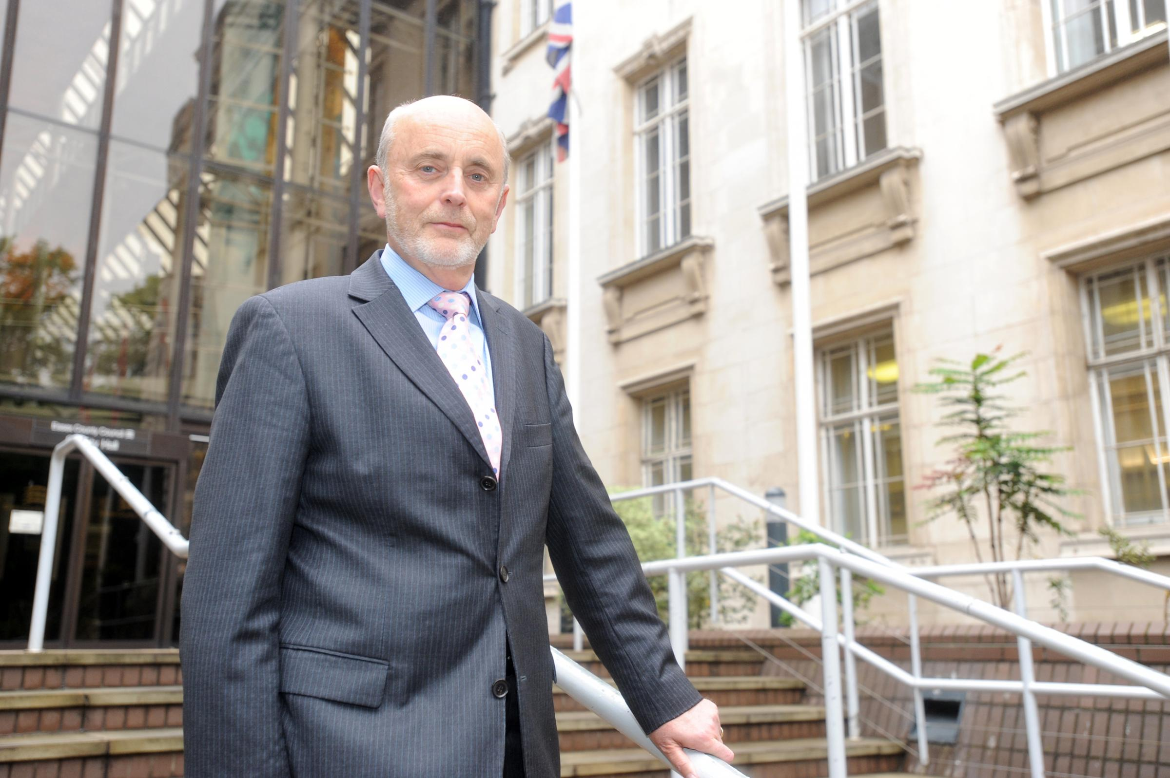 Thrilled: Council education boss Ray Gooding