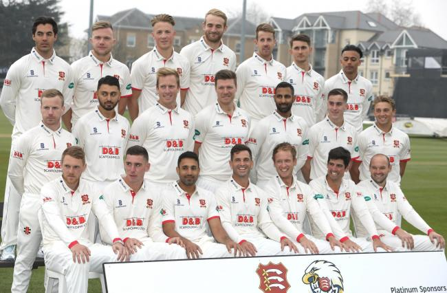 Ready for action - the Essex squad of (back from left) Shane Snater, Sam Cook, Ben Allison, Paul Walter, Matt Quinn, Jack Plom, Feroze Khushi. (Middle) Adam Wheater, Aron Nijjar, Simon Harmer, Matt Coles, Varum Chopra, Will Buttleman and Aaron Beard. (Fro