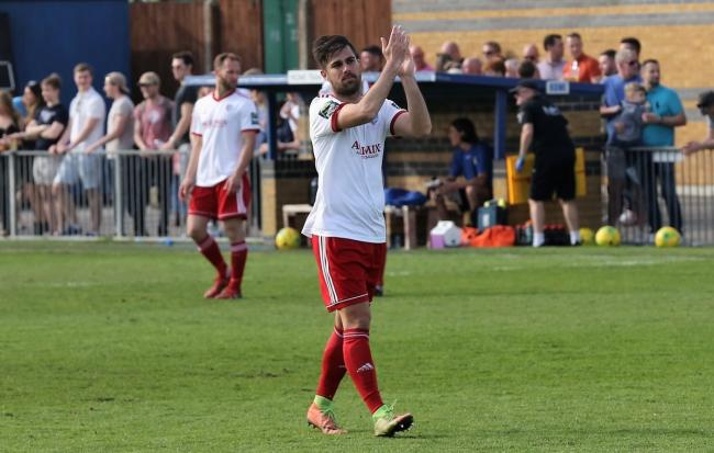 Moving on - Brightlingsea Regent striker Aaron Condon is playing his last game for the club this weekend before moving to Sussex. Picture: Neil Payne